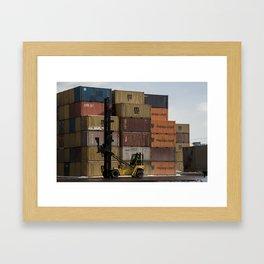 Pointe St. Charles Freight Moving Framed Art Print