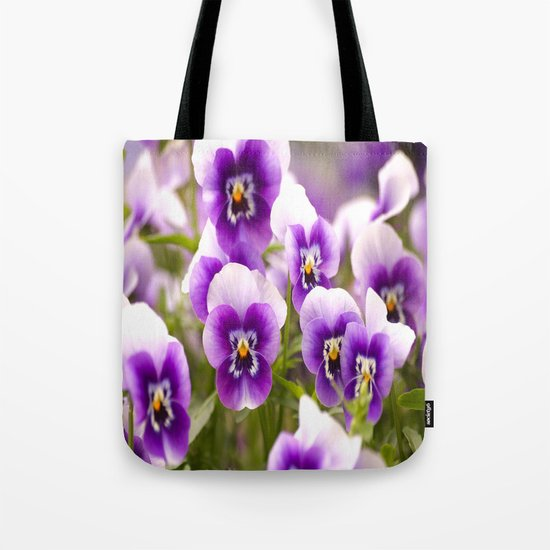 Wonderful Pansies  Tote Bag