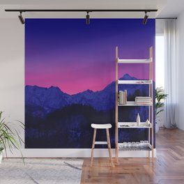 Dawn in Mountains Wall Mural
