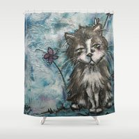 marley Shower Curtains featuring Marley by Allison Weeks Thomas