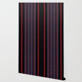 Checkered Ethnic Mosaic Pattern Wallpaper