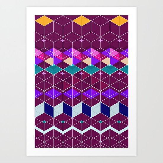 Cube Geometric IX Art Print