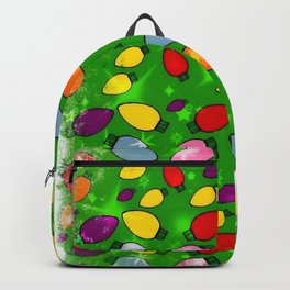 Christmas Bulb Popart by Nico Bielow Backpack