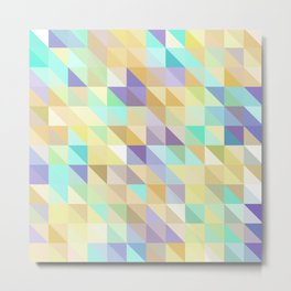 Colorful Triangles 2 Metal Print