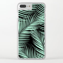 Palm Leaves - Mint Cali Vibes #1 #tropical #decor #art #society6 Clear iPhone Case