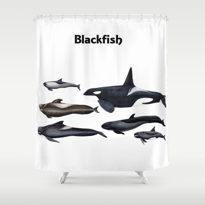 Blackfish Shower Curtain