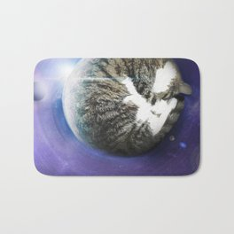 The Sleeping Cat Bath Mat
