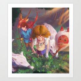 Princess Mononokkkkkkkkke Art Print