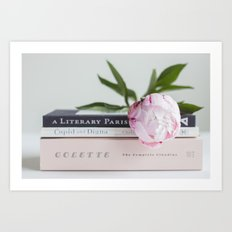peony and paris Art Print