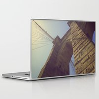 brooklyn bridge Laptop & iPad Skins featuring Brooklyn Bridge by Nick Torres
