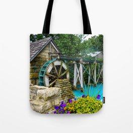 Water Wheel at the Village Tote Bag