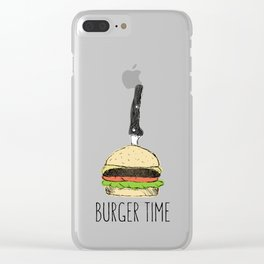 Burger Time sketch Clear iPhone Case