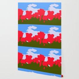Floral Castles Wallpaper