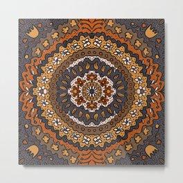 Fall Symmetrical Pattern Metal Print