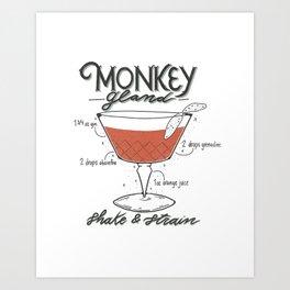 Monkey Gland Art Print