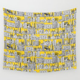 New York yellow Wall Tapestry