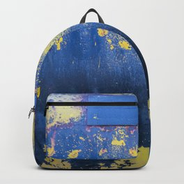 Blue and Yellow Rust Abstact Backpack
