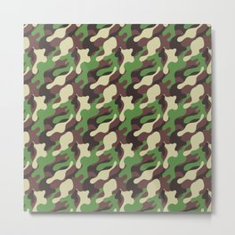 Forest Camo pattern 3 Metal Print