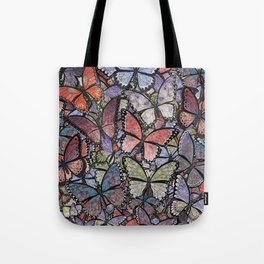 butterflies galore grunge version Tote Bag