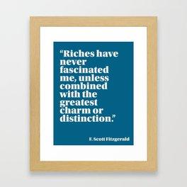 Fitzgerald on Money Framed Art Print