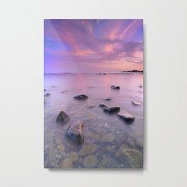"""""""Pink Sunset. Mediterranean sea."""" Metal Print"""