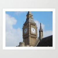 Tall and Proud Big Ben  Art Print