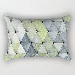 Textured Triangles Lime Gray Rectangular Pillow