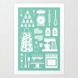 Baking Graphic Art Print