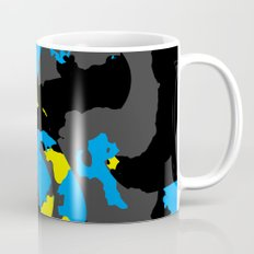 Black Blue yellow and Gray Abstract Mug