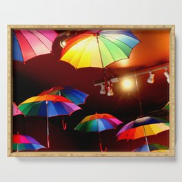 The Rainbow Party Lights Serving Tray