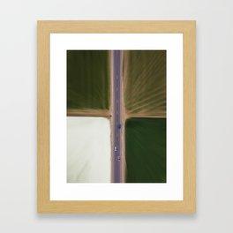 Blurred quadrant Framed Art Print