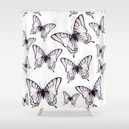 simple butterfly pattern Shower Curtain