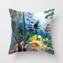 Emily Carr - British Columbia Landscape - Canada, Canadian Oil Painting - Group of Seven Throw Pillow