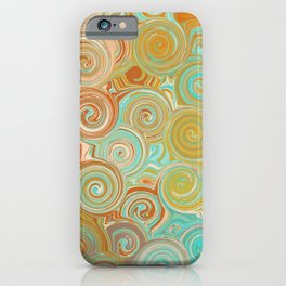Whirling Wheels - Digital Art  iPhone Case