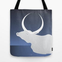 the moon landed softly on her head and stayed there...  Tote Bag