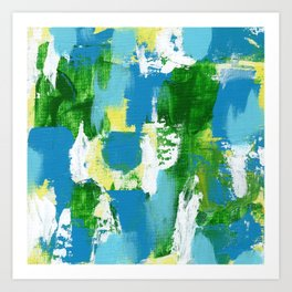 Abstract Expression #5 by Michael Moffa Art Print