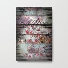 Zebra Rococo Metal Print