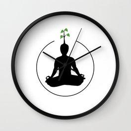 Meditation and ideas Wall Clock