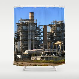 Natural Gas Power Plant Shower Curtain