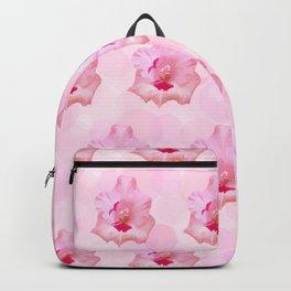 Pink Gladiolus flower Backpack