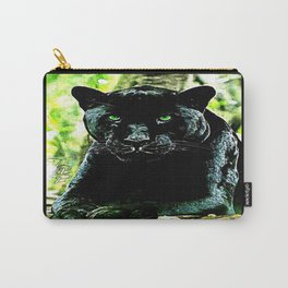 Big Cat Models: Green Eyed Black Panther Carry-All Pouch