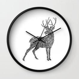 Deer in Mountain Lines Wall Clock
