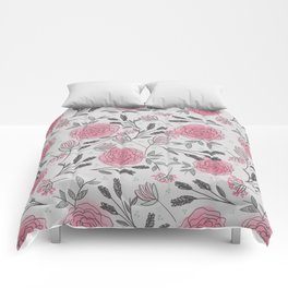 Soft and Sketchy Peonies Comforters