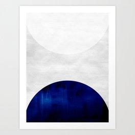 white & cobalt Art Print