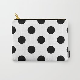 Black and White Polka Dot Carry-All Pouch