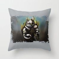 rocky Throw Pillows featuring Rocky by Wesley S Abney