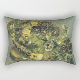 Basket of Pansies by Vincent van Gogh Rectangular Pillow