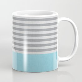 Blue and gray stripes and color block Coffee Mug