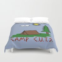 camp Duvet Covers featuring Camp C.U.T.S. by Isaboa