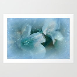 HEAVENLY BLUE FLOWERS Art Print